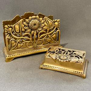 Art Nouveau style Stamp Box and Letter Holder