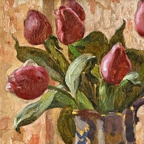 Tulips Still Life Oil on Board image-2