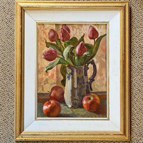 Tulips Still Life Oil on Board image-1