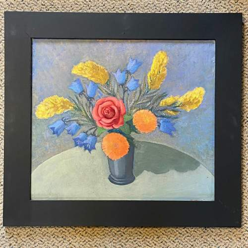 Christopher Gage Jacobs Flowers Arranged by Joan Oil on Board image-1