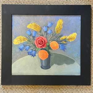 Christopher Gage Jacobs Flowers Arranged by Joan Oil on Board