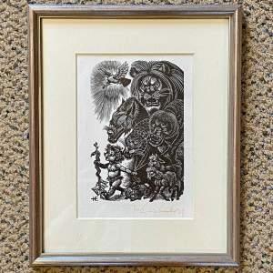 Fritz Eichenberg Woodblock Print