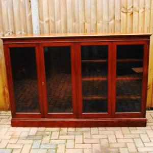 Victorian Mahogany Double Fronted Glazed Bookcase
