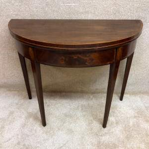 Georgian Mahogany Demi- Lune Tea Table