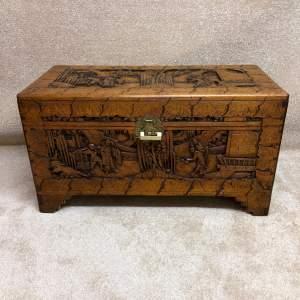 Carved Camphor Wood Blanket Box