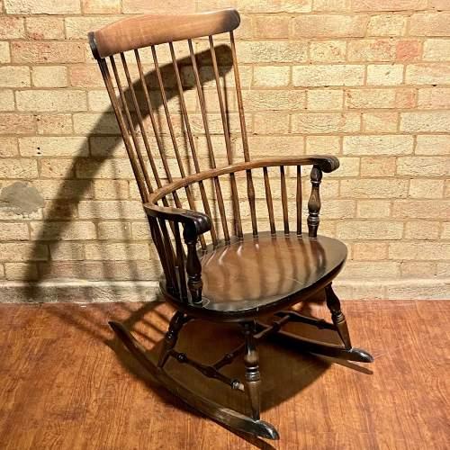 Vintage Stick Back Windsor Rocking Chair image-1