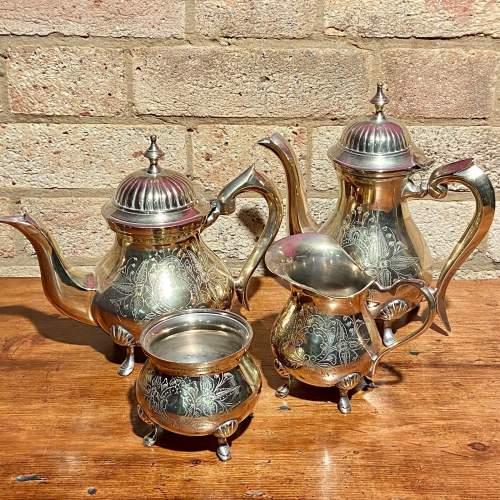 Vintage Four Piece Silver Plated Tea Service image-1