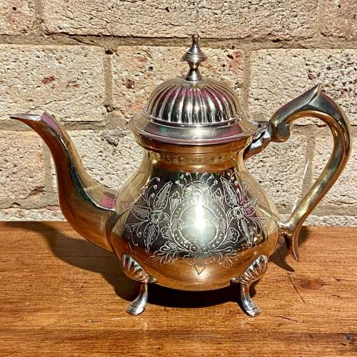 Vintage Four Piece Silver Plated Tea Service image-2