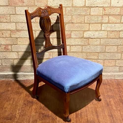 Edwardian Walnut Nursing Chair image-1