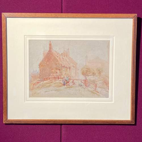 20th Century Watercolour Painting By Cuthbert Crossley image-1