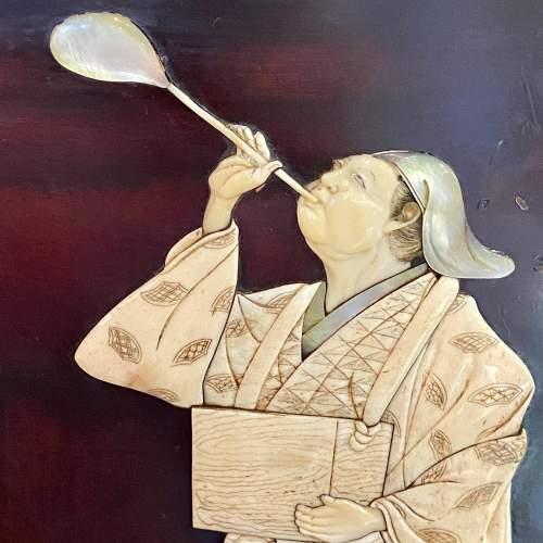 A Pair of Meiji Period Shibayama Panels image-3