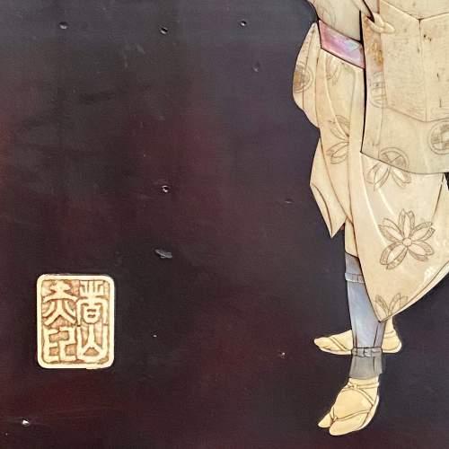 A Pair of Meiji Period Shibayama Panels image-6