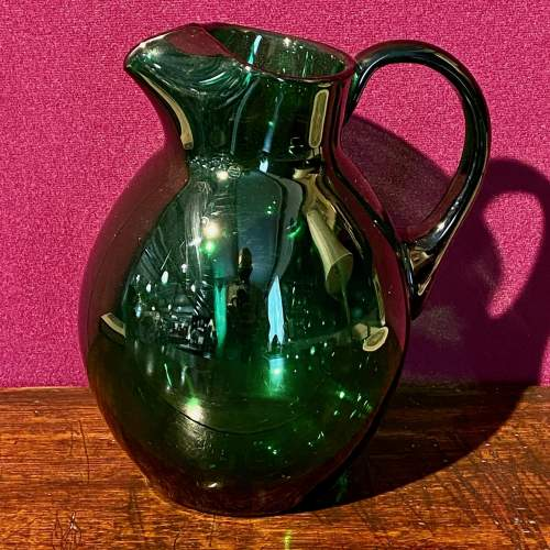 19th Century Bristol Green Glass Jug image-1