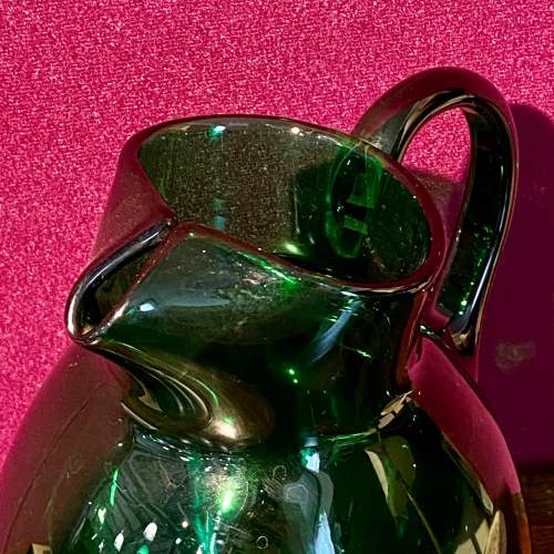 19th Century Bristol Green Glass Jug image-2