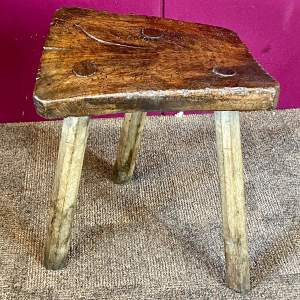 18th Century Rustic Oak Stool