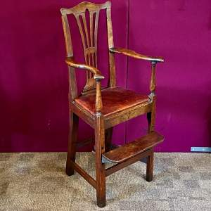 A Regency Period Chippendale Style High Chair