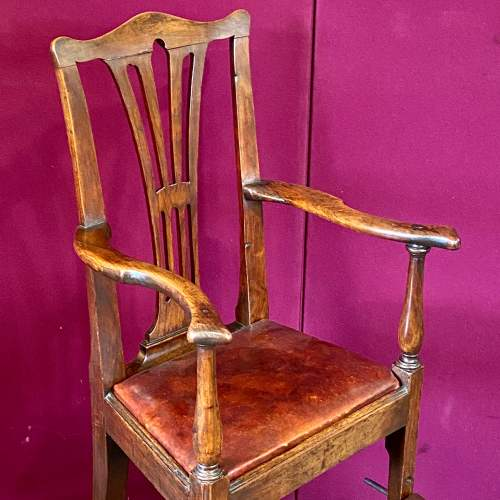 A Regency Period Chippendale Style High Chair image-2