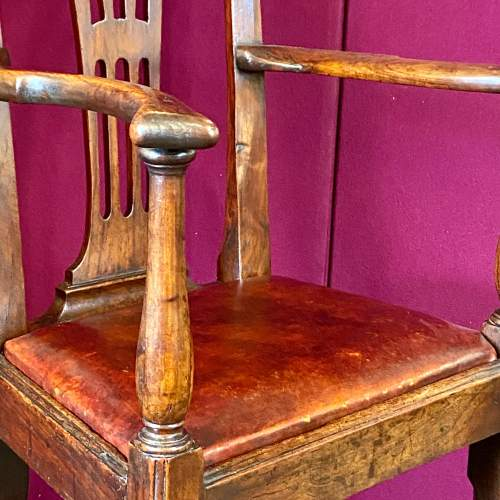 A Regency Period Chippendale Style High Chair image-4