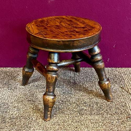 A Small 19th Century Ash Stool image-1