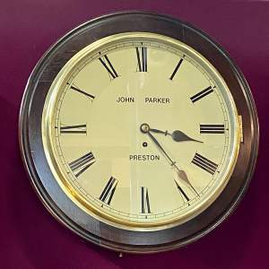 19th Century Fusee Timepiece Wall Clock