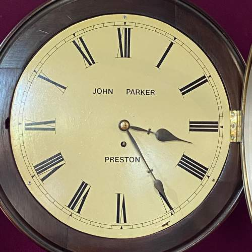 19th Century Fusee Timepiece Wall Clock image-2