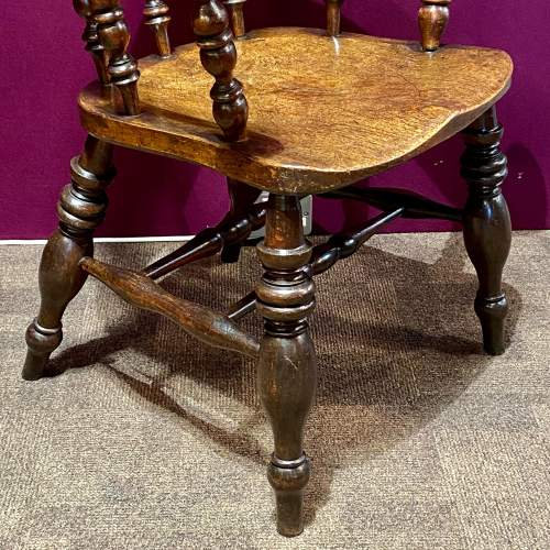 19th Century Ash and Elm Smokers Bow Chair image-3