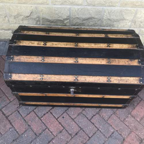 Domed Metal Banded and Black Leather  Chest image-2