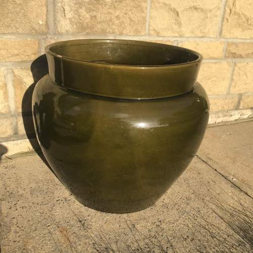 Arts and Craft Large Green Bretby Pottery Jardiniere image-1