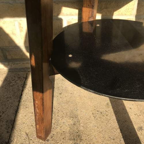 A Good Solid Oak Vintage Tavern Table With Shelf image-6