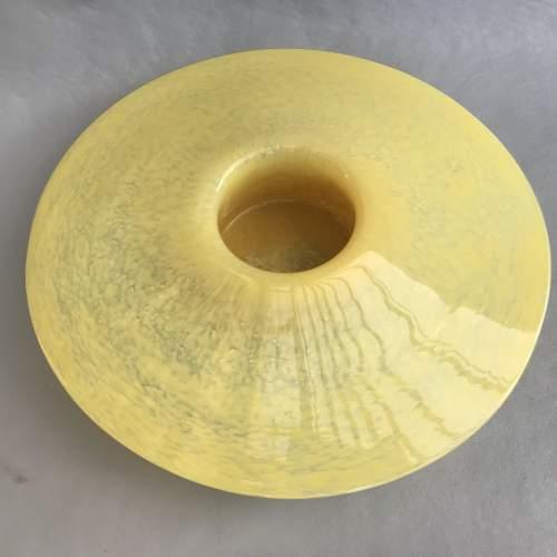 1940s Yellow Stylish Pot Pourri Glass Bowl image-5