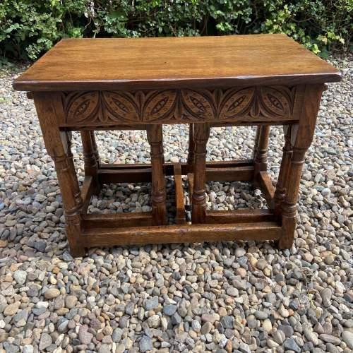 Distressed Oak Nest of Tables image-1