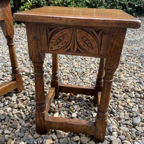 Distressed Oak Nest of Tables image-3