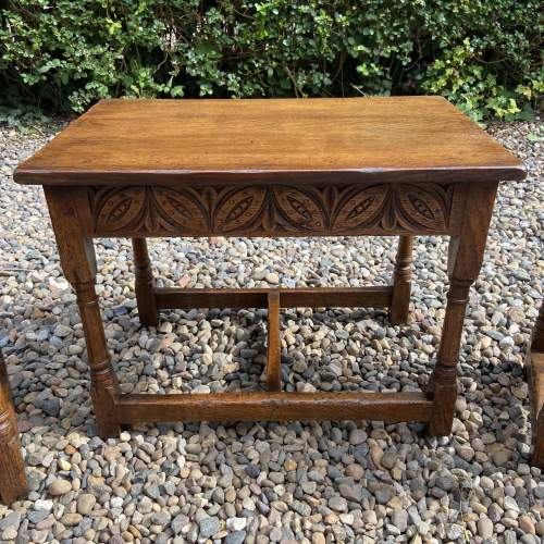 Distressed Oak Nest of Tables image-5