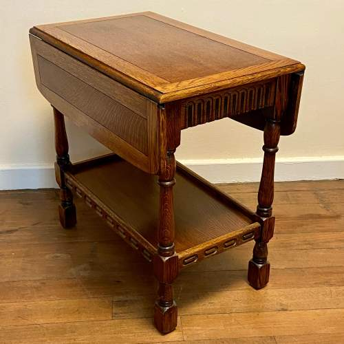 Early 20th Century Oak Drop Leaf Table image-1