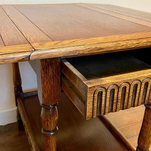 Early 20th Century Oak Drop Leaf Table image-4