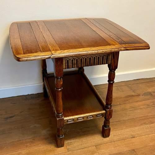 Early 20th Century Oak Drop Leaf Table image-3