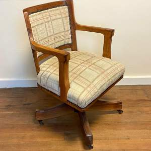Early 20th Century Oak Framed Captains Chair