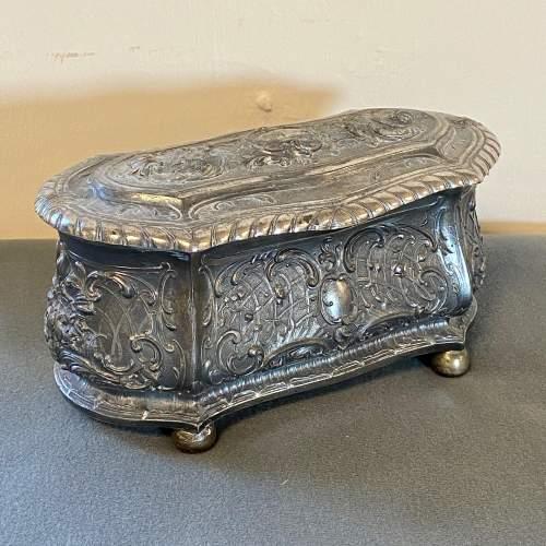 Art Nouveau WMF Silver Plate Jewellery Casket image-1