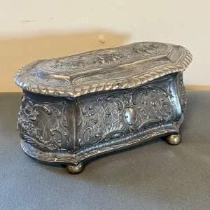 Art Nouveau WMF Silver Plate Jewellery Casket