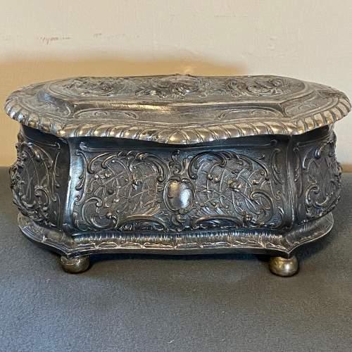 Art Nouveau WMF Silver Plate Jewellery Casket image-2