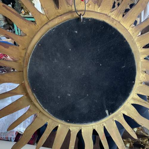 Superb Belgian French Wooden Sunburst Mirror with Convex Glass image-6
