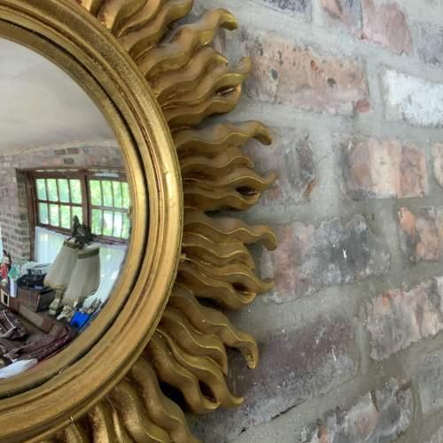 Stunning French Belgian Sunburst Mirror with Convex Glass image-3
