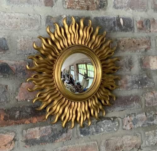 Stunning French Belgian Sunburst Mirror with Convex Glass image-5