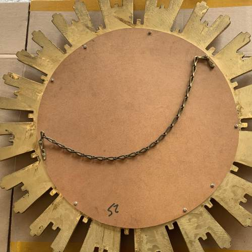 Stunning Belgian French Convex Glass Sunburst Mirror image-6