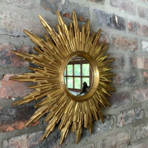 Superb Belgian French Sunburst Mirror with Multiple Bursts image-1