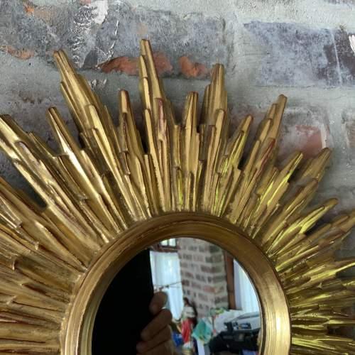 Superb Belgian French Sunburst Mirror with Multiple Bursts image-2