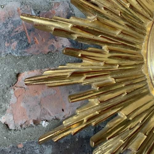 Superb Belgian French Sunburst Mirror with Multiple Bursts image-3