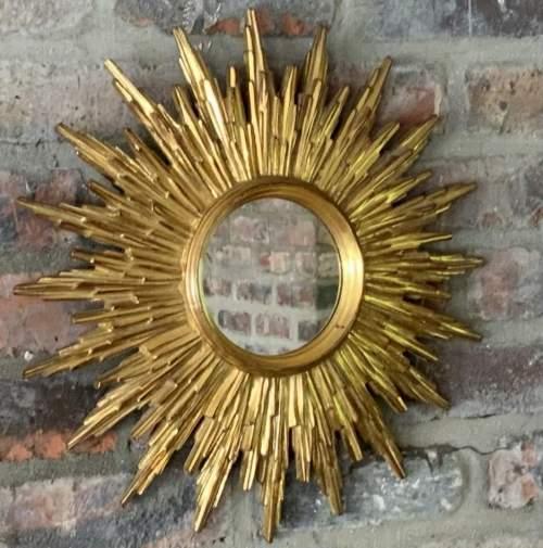 Superb Belgian French Sunburst Mirror with Multiple Bursts image-5