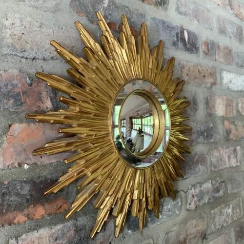 Superb French Belgian Sunburst Mirror with Multiple Bursts image-1