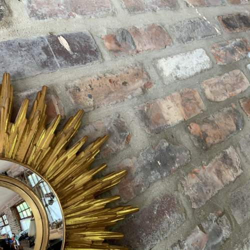 Superb French Belgian Sunburst Mirror with Multiple Bursts image-3